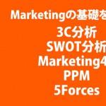 【終了しました】マーケティングの基礎を学ぼう!(3C分析、SWOT分析、Marketing4P、PPM、5Forces)