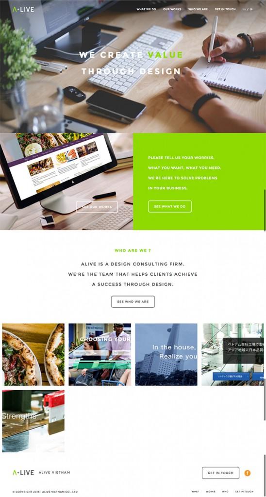 アライブベトナムのオフィシャルホームページが完成しました!